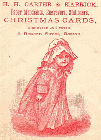 Early Advertisement for Christmas Cards