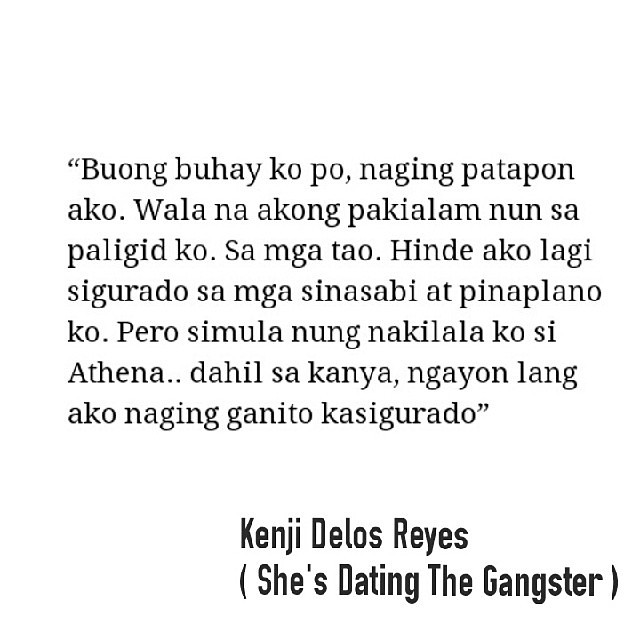 She dating gangster quotes