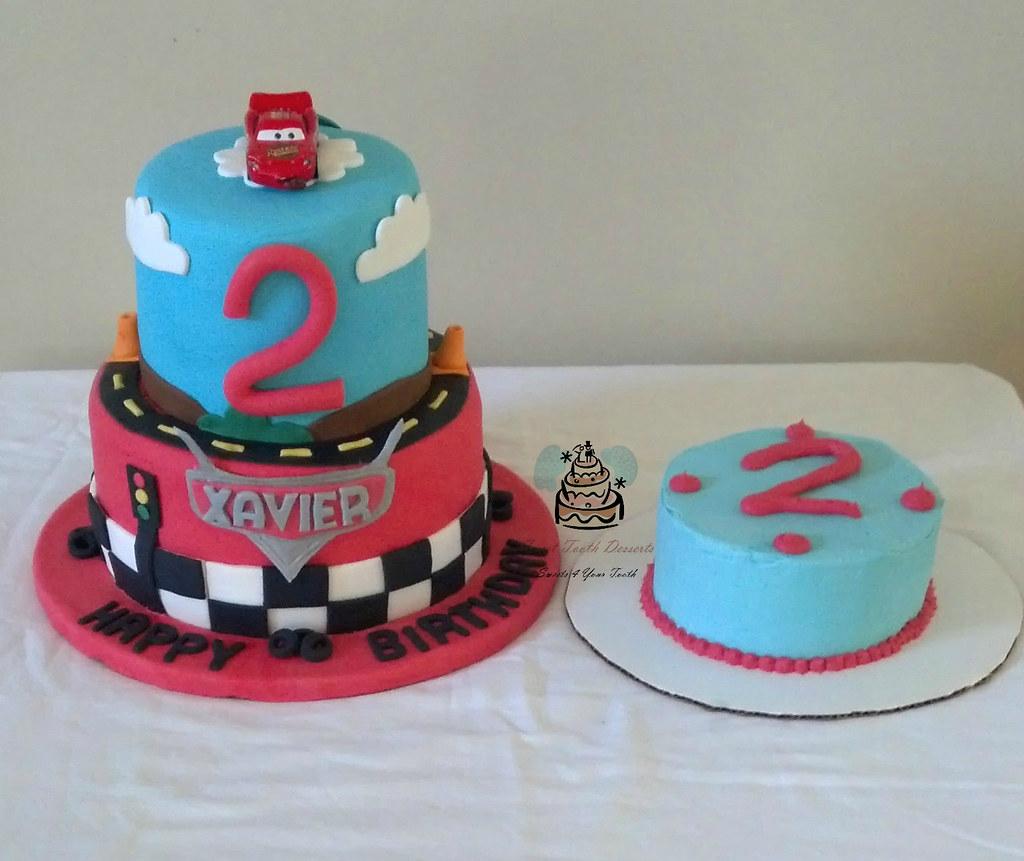 Cars Theme Birthday Cake