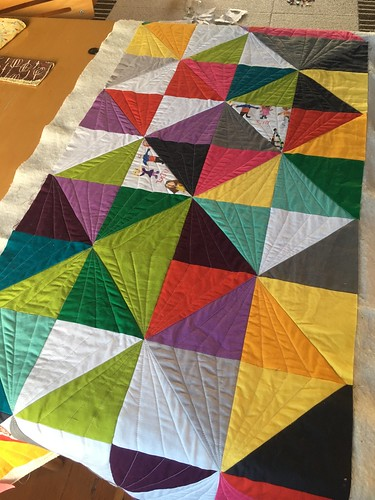 Auction Quilt - First Section Quilted