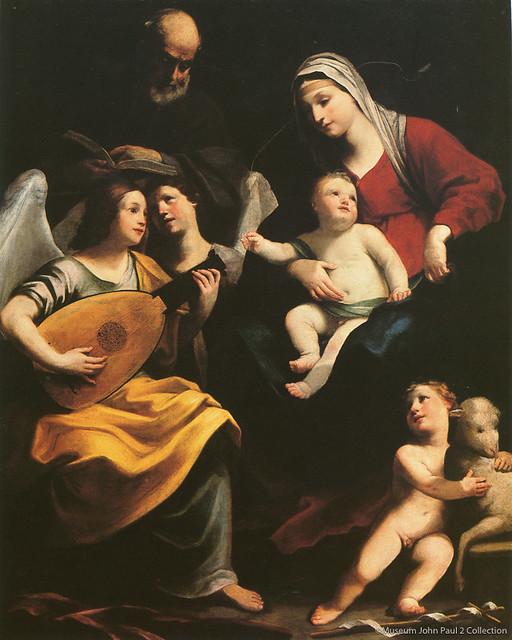 グイド・レーニ《聖家族―エジプトへの逃避途上の休息》(1637年、ヨハネ・パウロ2世美術館蔵)