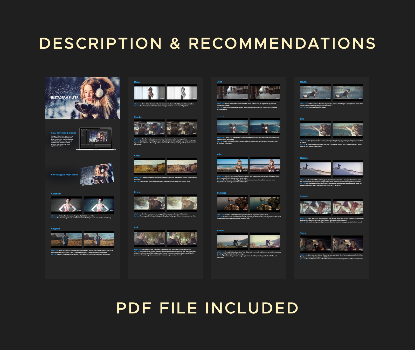 Instagram Filter | 40 Color Grading Presets by Yourfriend | VideoHive
