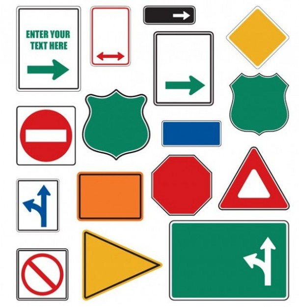 free vector road sign shapes free vector road sign shapes flickr