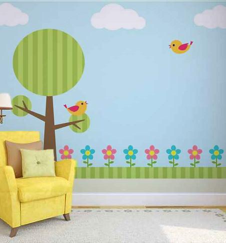bosque animado decoracin de paredes decoracin de infantiles juveniles murales with paredes de infantiles