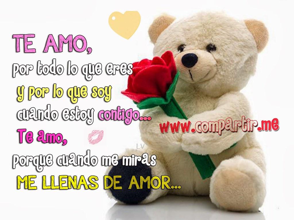 Frases De Amor Imagen De Osito Tierno Con Frase De Amor C Flickr