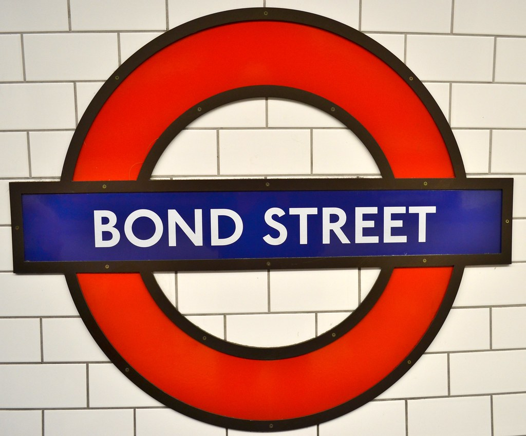 Bond Street Tube Sign Bond Street Is Served By The Central Flickr