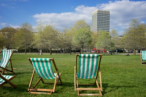 Deck chairs in Hyde Park | by p_a_h