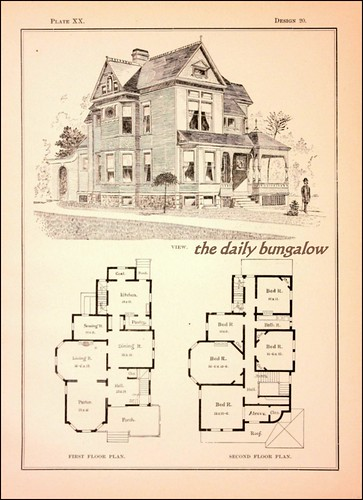 Modern cottages j h kirby architect daily bungalow flickr - Historic colonial house plans paint ...