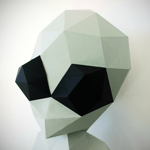 Paper Alien Low Poly Model