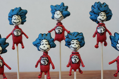 Dr. Suess Thing 1 & 2 Cake Pops | by Sweet Lauren Cakes