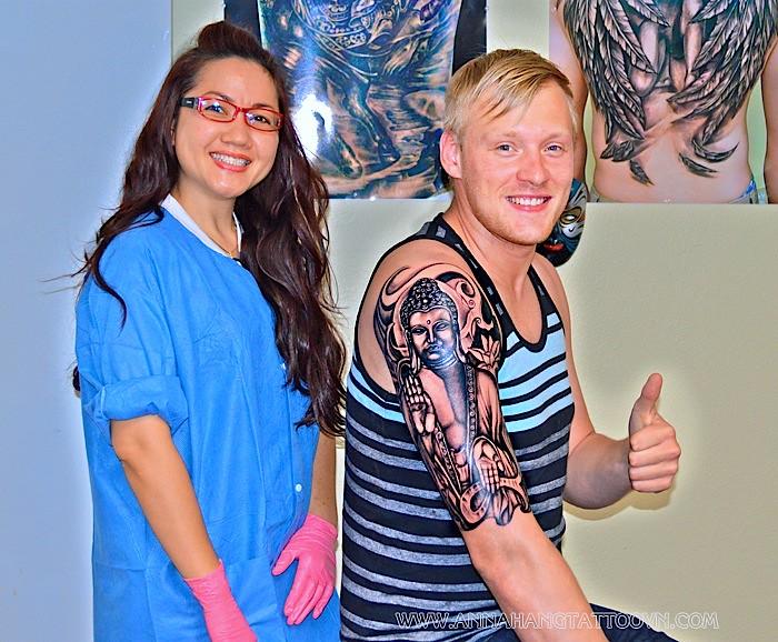 Buddha Tattoo Half Sleeve Annahangtattoovncom Wwwfac Flickr