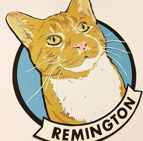 Custom Paper Pet Portrait - Remington