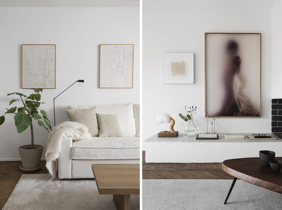 Minimalist Home with Soft, Pastel Colors