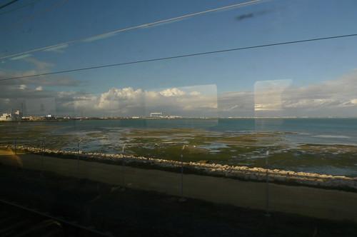 On the C1 train from Cadiz to Jerez de la Frontera, Spain