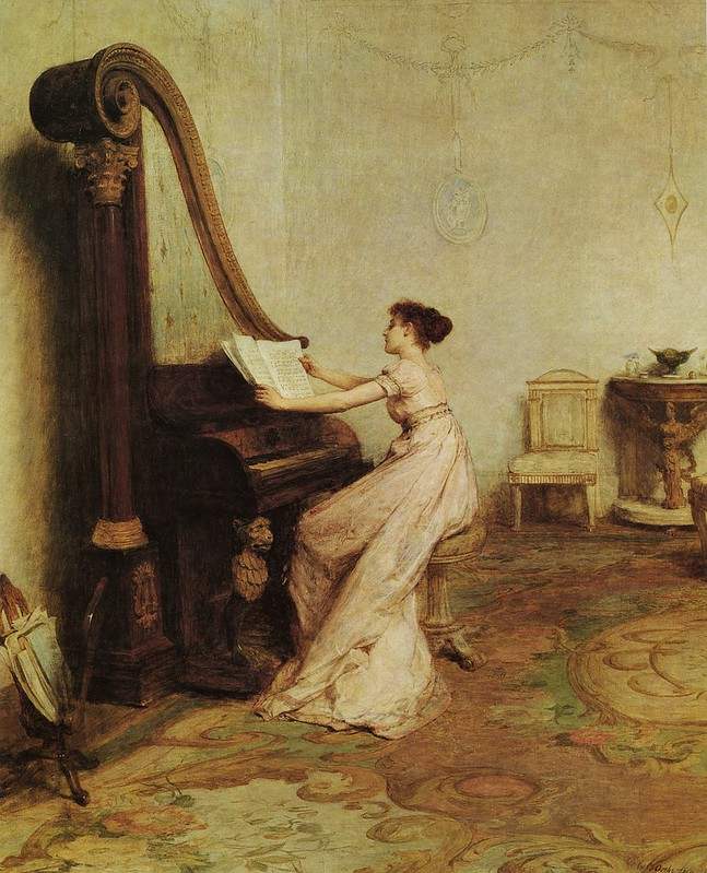 William Quiller Orchardson - Music when soft voices die, vibrates in the memory