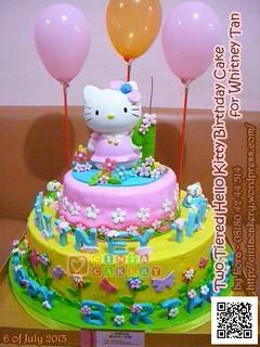 Hello Kitty Tiered Birthday Cake