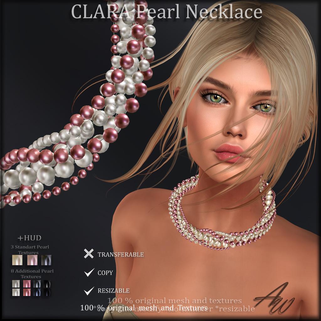 CLARA Pearl Neclace ads