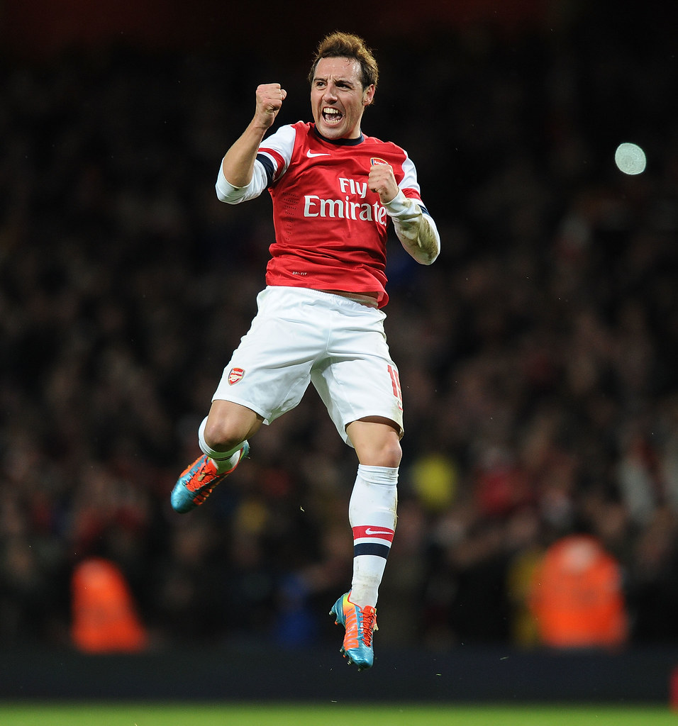 Santi Cazorla celebrates scoring the 1st Arsenal goal