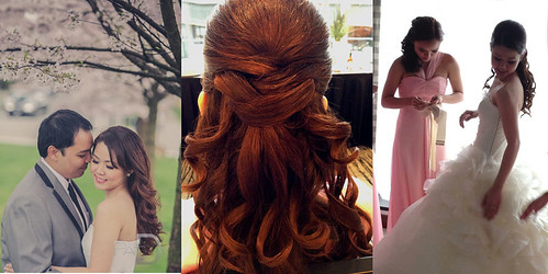asian-smooth-wedding-half-updo | by vanmobilehair