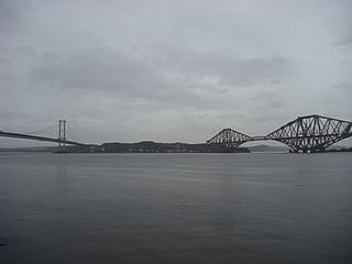 034 Forth Road Bridge en Forth Rail Bridge