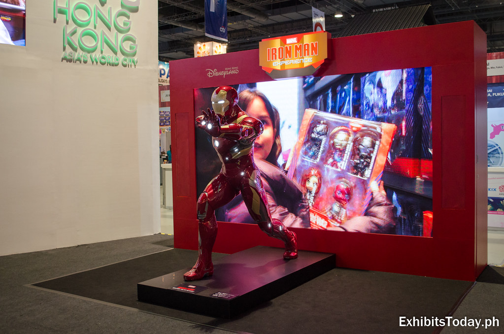 Iron Man replica at Hong Kong booth
