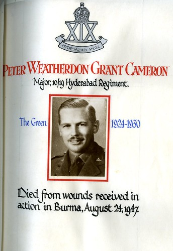 Cameron, Peter Weatherdon Grant (1911-1947) | by sherborneschoolarchives