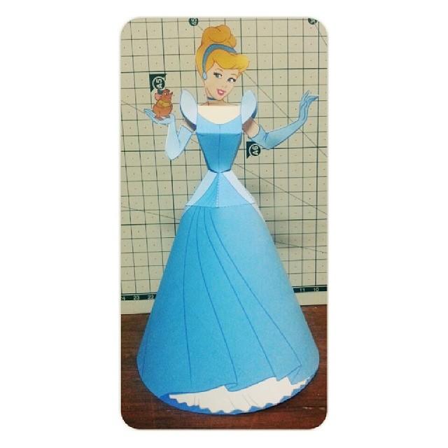 Cinderella 28 Papermodel Papercraft Papertoy Disney Princess