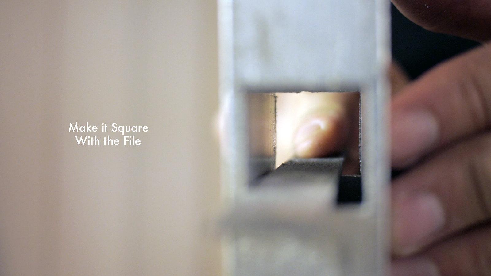 File Square Hole