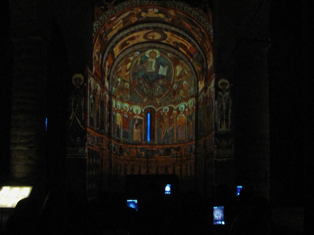 sant climent de taüll-mnac-video mapping-pantocrator-pinturas mnac-visitas