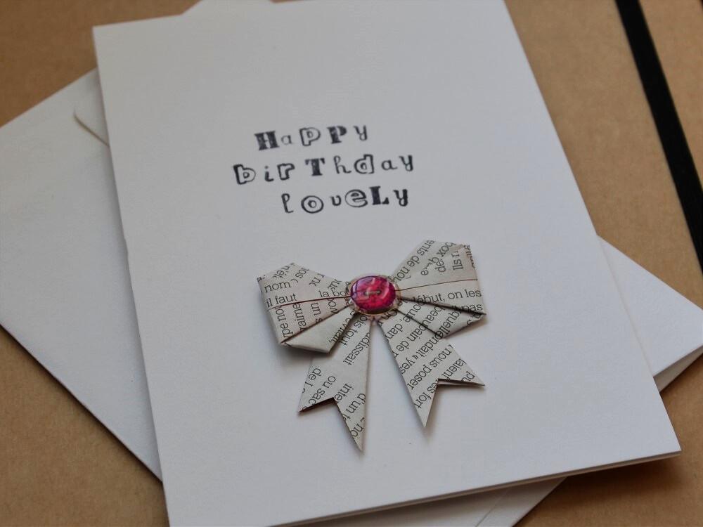 Handmade Origami Birthday Card Handmadebykatherinetumblr Flickr