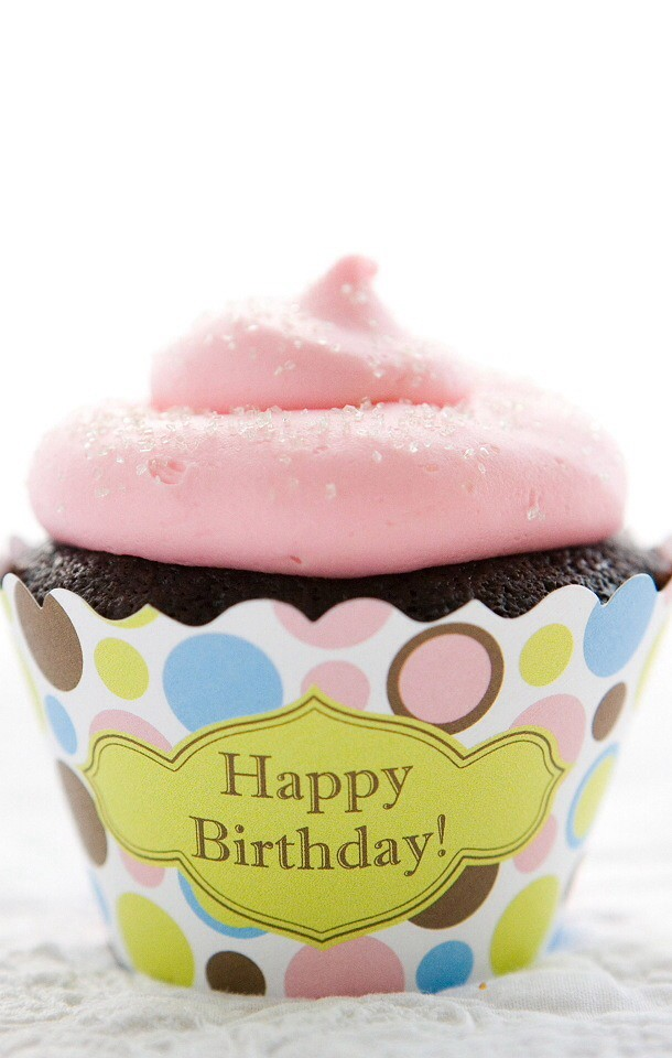 Happy Birthday Cupcake Happybirthday Iphone Wallpaper