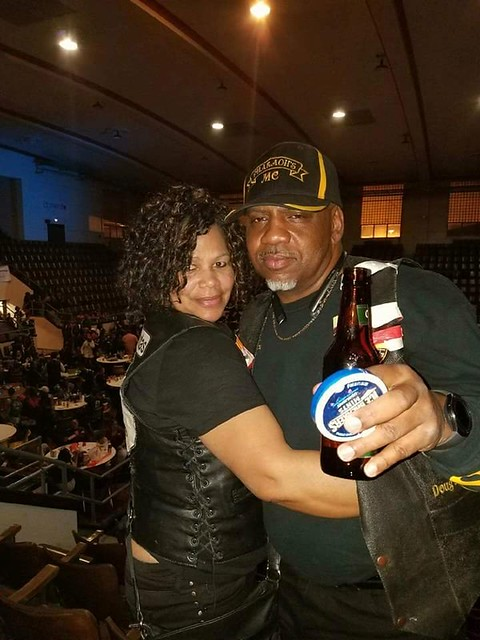 My Club Member Pocahontas and her man Satellite from Pharrohs M/C - St. Louis chapter
