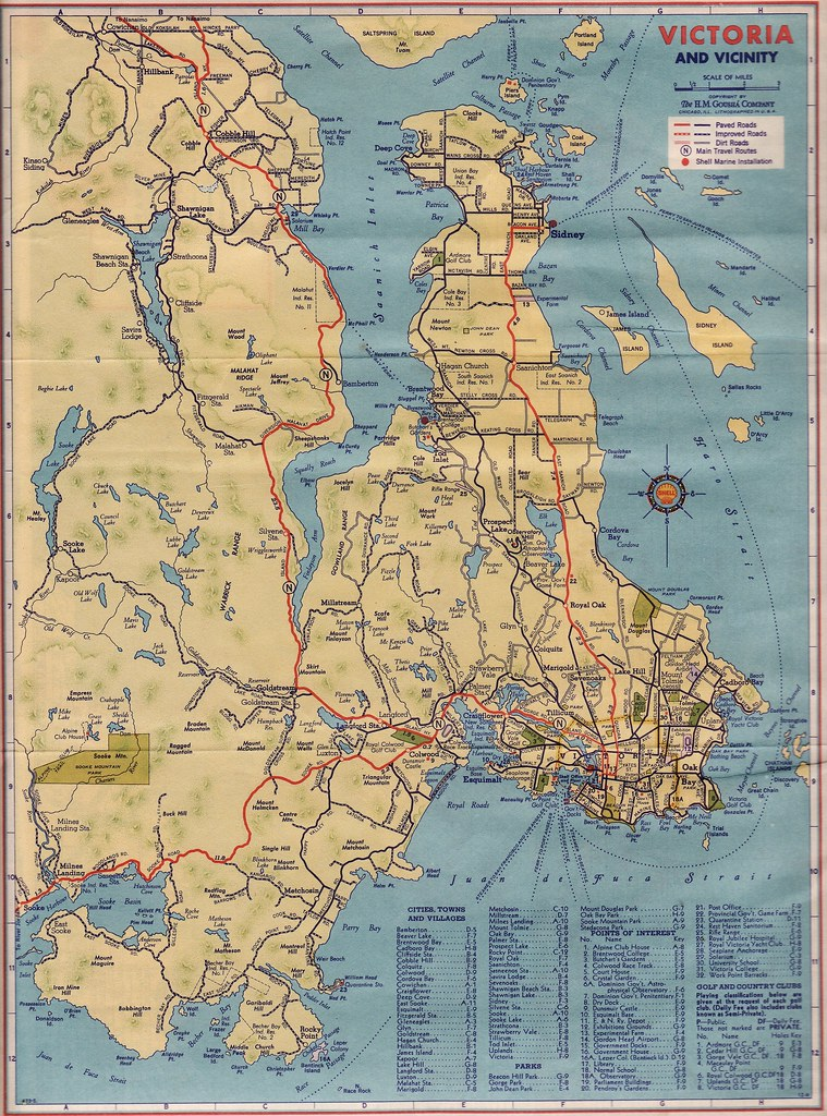Road Map Victoria and Vicinity 1940 Shell Oil Victoria Flickr