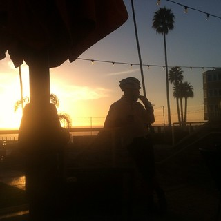 Pismo Beach . Day one done. @tedketai celebrates with a frozen banana on a stick. | by Slonie
