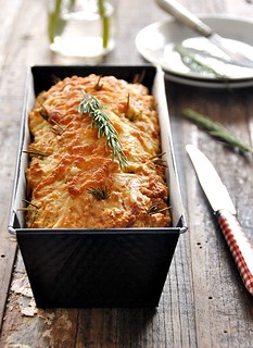 Cheesy Rosemary and Pecan Damper Loaf | www.fussfreecooking.com | by fussfreecooking