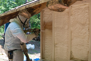 Vermont Foam Insulation Guy Spraying Foam | by goingslowly