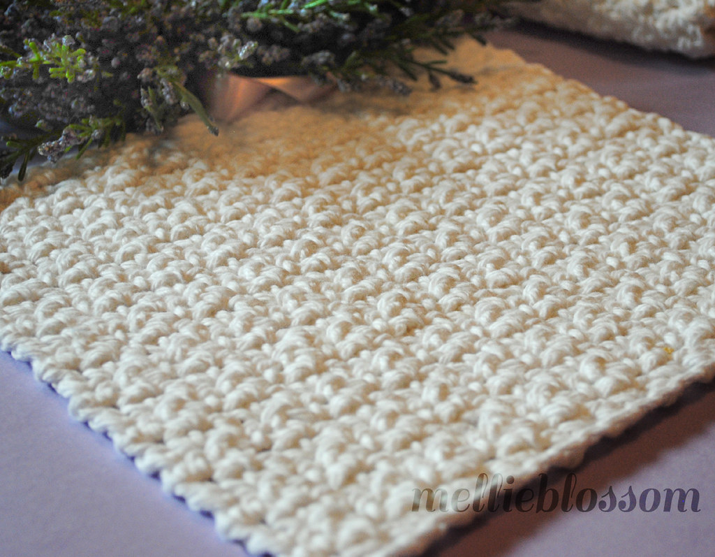 Free Easy Crochet Dishcloth Pattern Blogged Mellieblo Flickr
