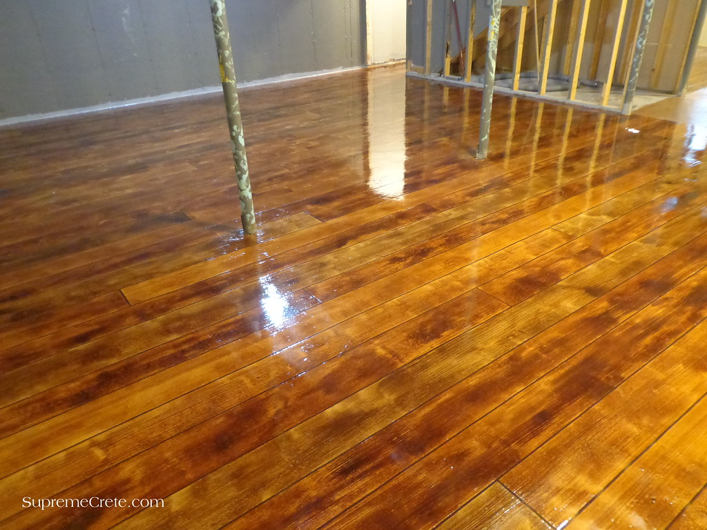wood concrete basement floor elkhart in flickr