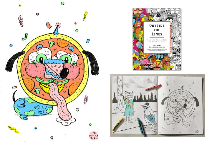PIZZA FACE OUTSIDE THE LINES COLORING BOOK | Ohara Hale | Flickr