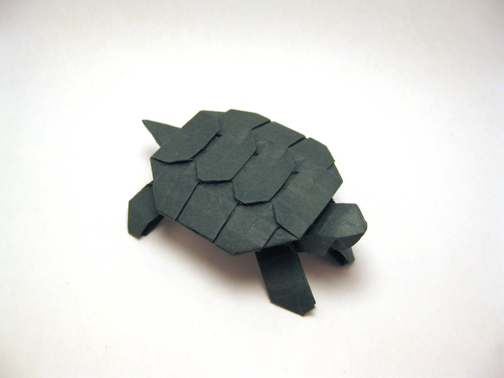 Origami Turtle Designed And Folded By Mindaugas Cesnaviciu