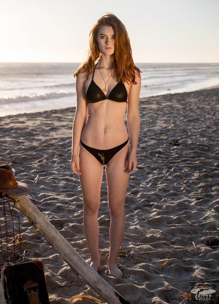 Redhead Bikini Model