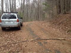 Parked at Alec Mountain Gap