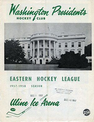 Washington Presidents 1957-58  program