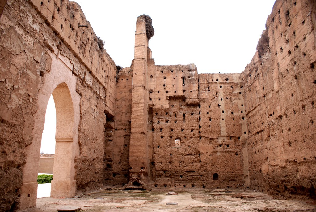Autre vue ce qu'il reste du palais El Badia à Marrakech.