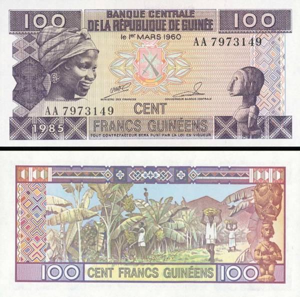 100 Frankov Guinea 1985, P30