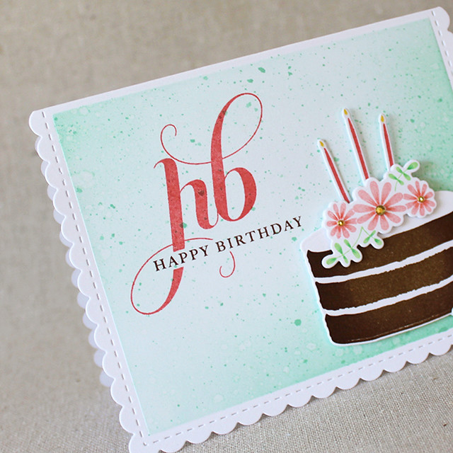Birthday Cake Sentiment Close Up