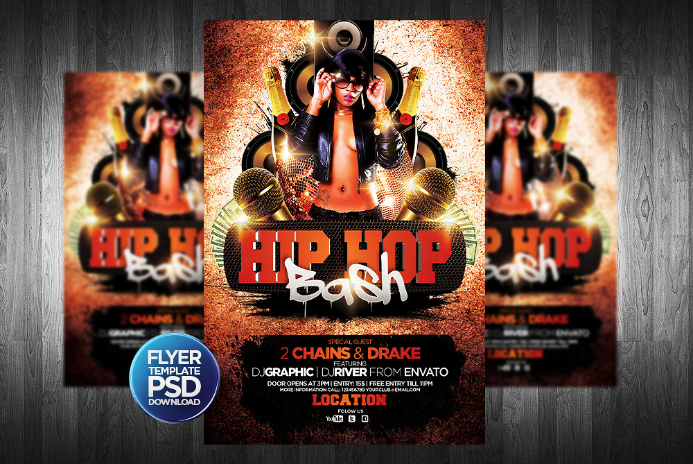 Hiphop Flyer Template To Download Psd Template Click Here Flickr