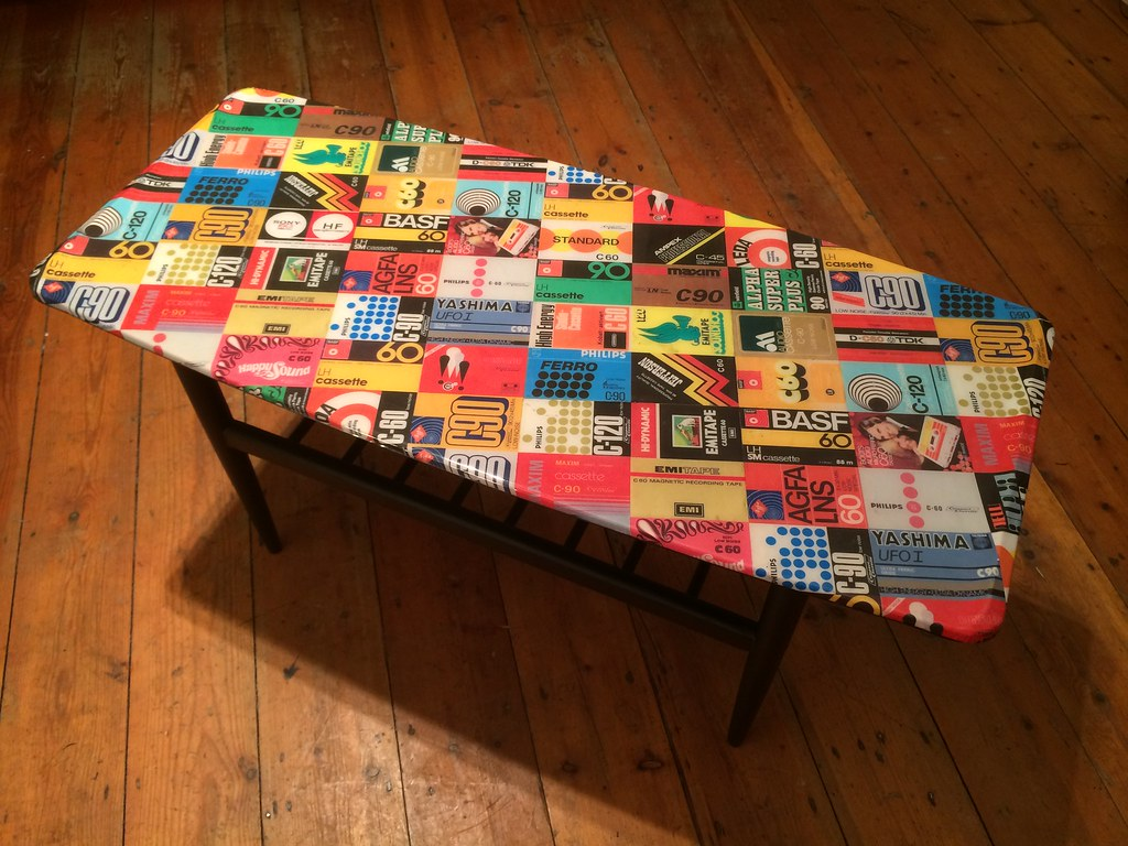 Superieur ... Decouape Furniture London Cassette Tape Cover Table | By Nova+Lorsten