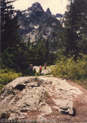 Hiking Cascade Canyon in 1995 in Grand Teton National Park, Wyoming