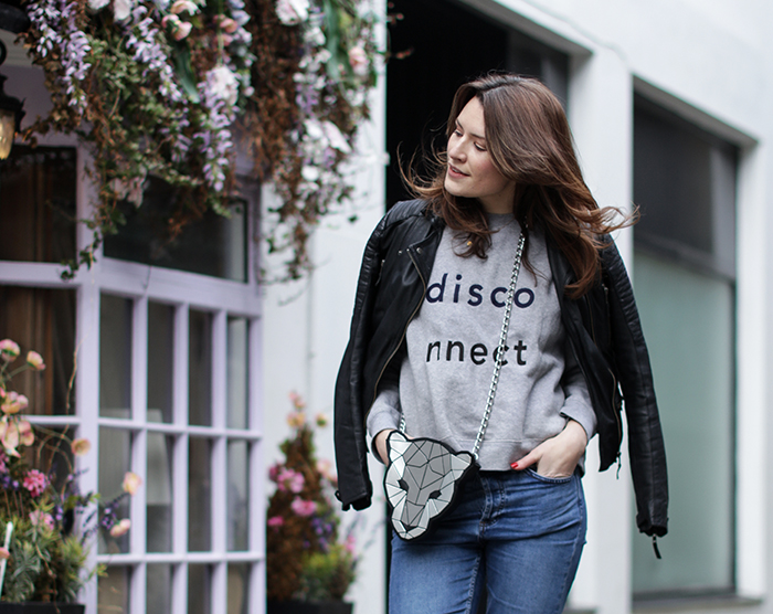 London Fashion Blogger | Street Style | W00D W00D Disconnect Jumper